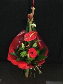 Red flame bouquet