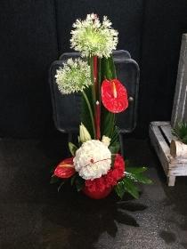 Dons football themed arrangement
