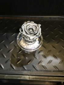 Gorgeous silver everlasting rose